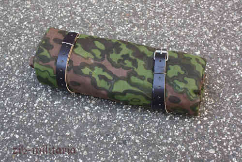 WX tent quarter oakleaf camo with leather straps, reversible - zib-militaria