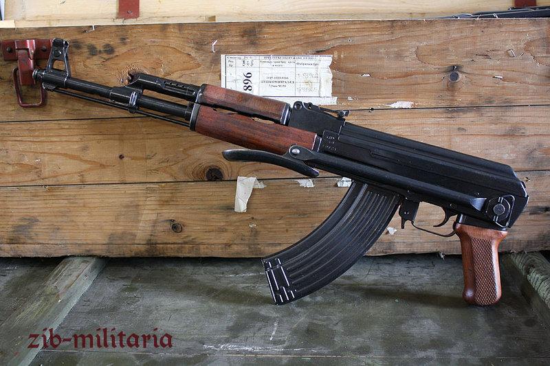 AK47 (AKS) folding stock, very good/mint, Poland, deactivated assault rifle