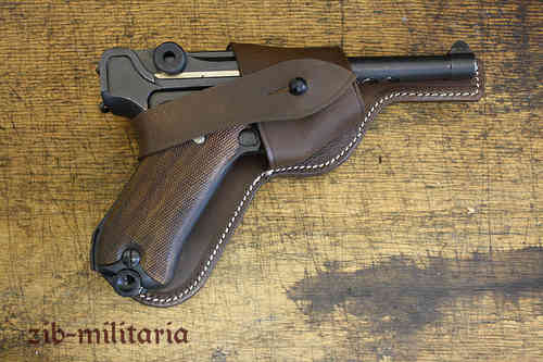 WH holster P08 Luger, brown, open