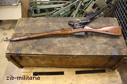 Sniper Mosin Nagant M91/30, deactivated rifle (WII)
