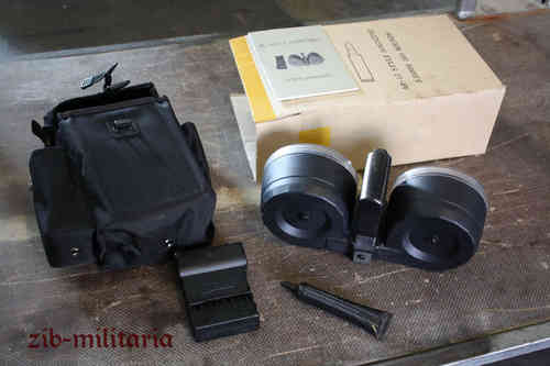AR15 / M16 / M4 drum mag .223 with pouch and accessoiries, 100rds double drum, MANKO