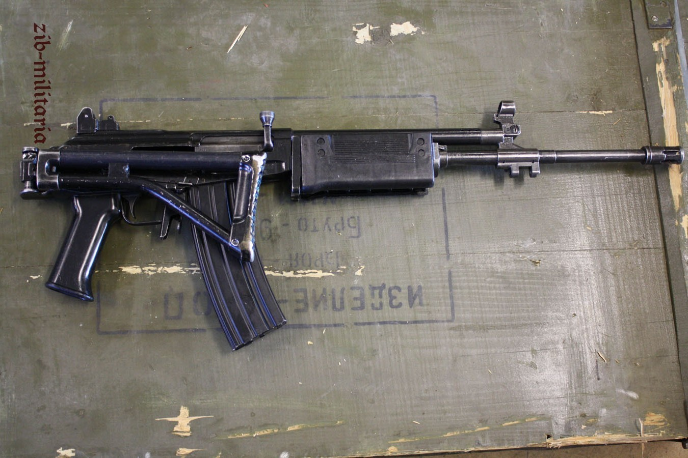 Galil PVC stock, deactivated assault rifle
