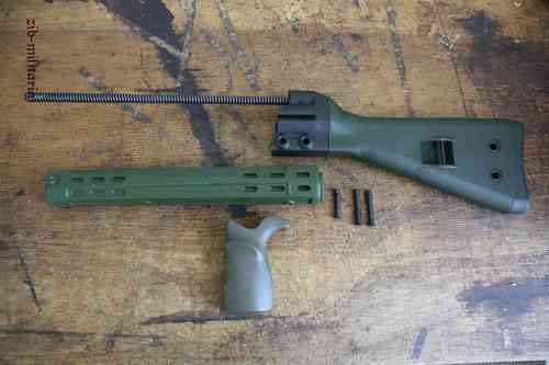 G3 H&K Stock set, green (G3A3)