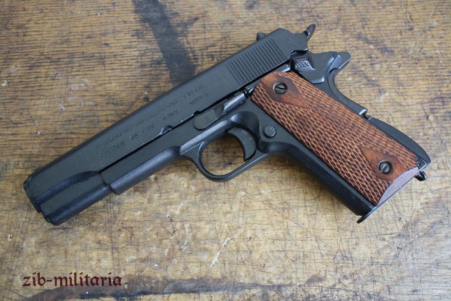myöhemmin huippulaatua 100% huippulaatua US Colt 1911 with rifled wooden grip shells, pistol model