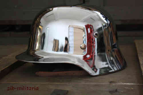 Steel helmet, chromed