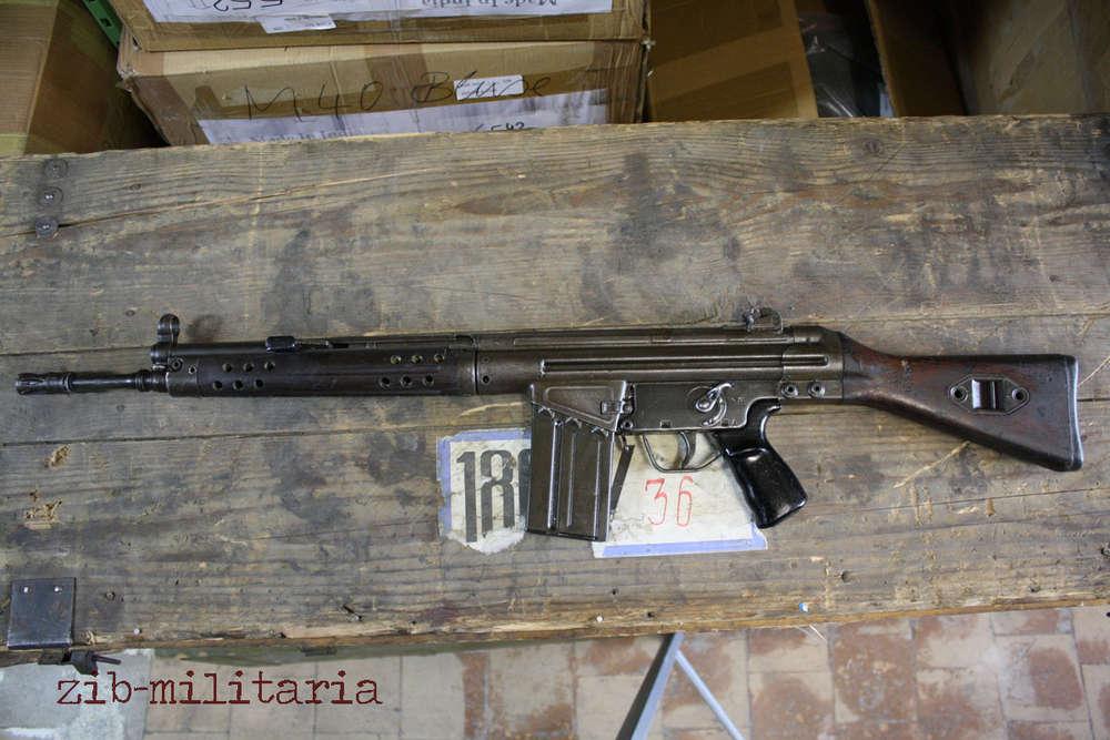 G3 fix stock, POF make, deactivated assault rifle Pakistan