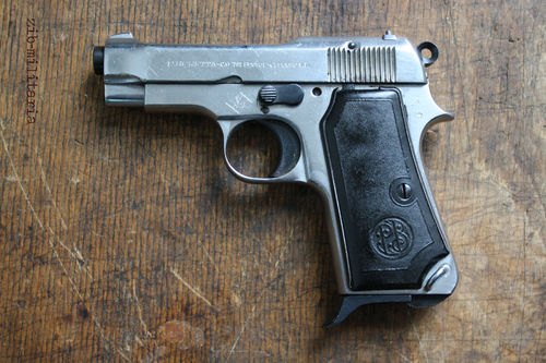 Beretta 34 / 35, nickled, deactivated pistol