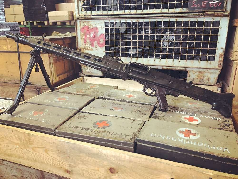 MG42/MG53, free part set without barrel + bolt head, WWII
