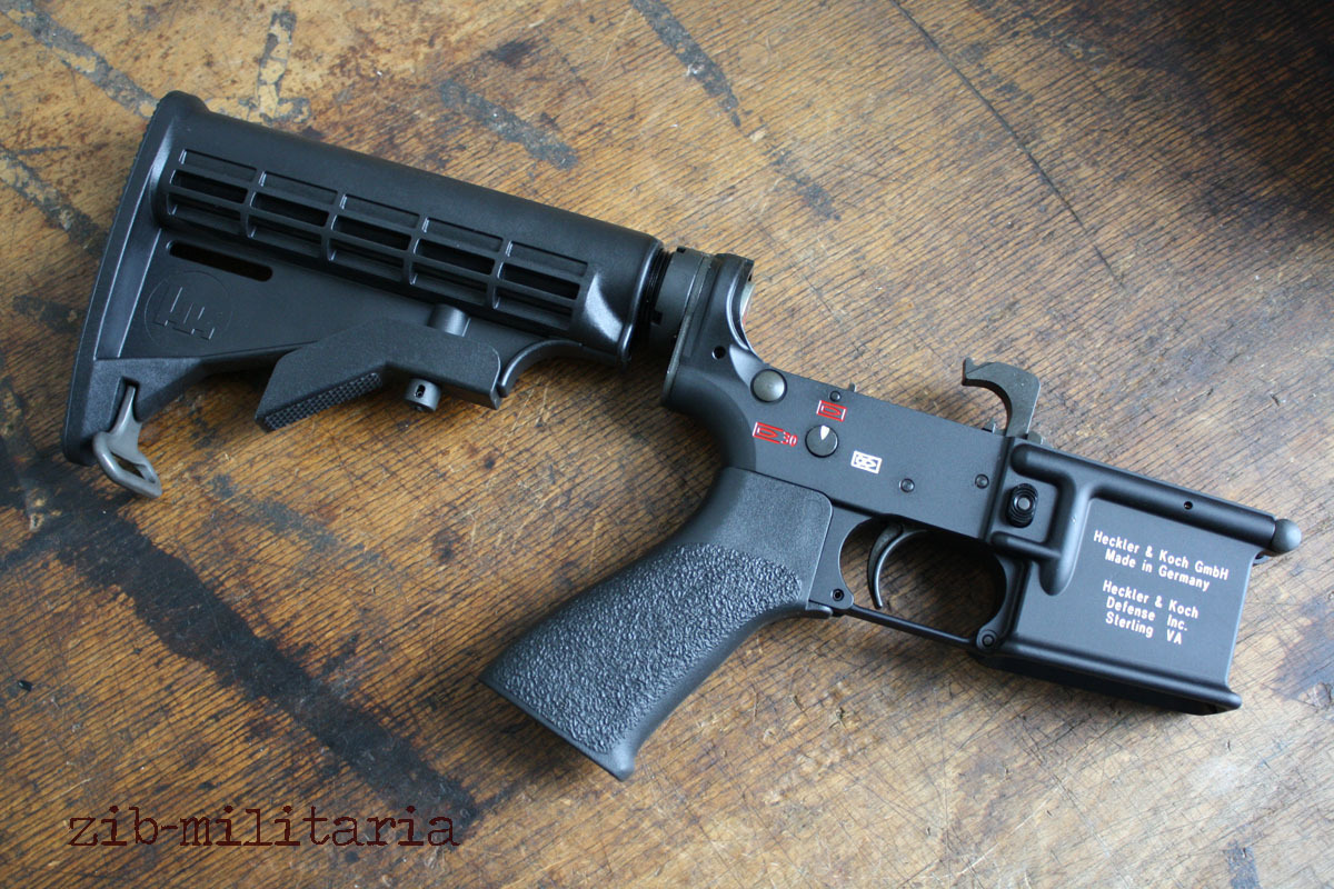 HK416 Lower Receiver Complete, mounted, with buttstock, (M4/M16/AR15)