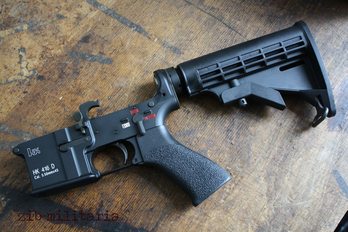 HK416 lower receiver complete, mounted, with buttstock