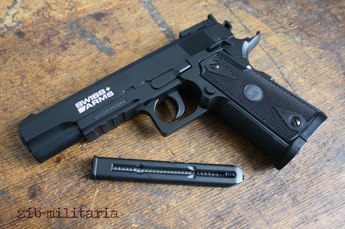 P1911 Match NBB, Swiss Arms, 4,5mm steel BB, CO2