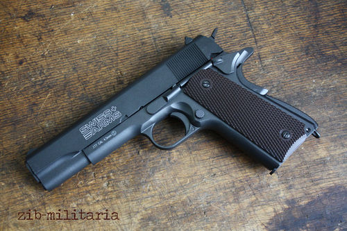 P1911, Swiss Arms, Blow-Back, 4,5mm Stahl BB, CO2