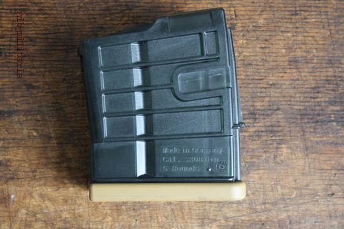 HK417/MR308 Magazin 5rds, PVC Transparent, H&K, RAL8000 bottom