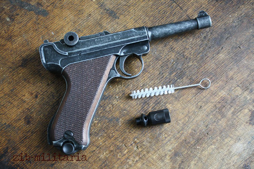 ME Luger P08, aged, 9mm P.A, blank firing
