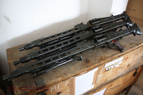 MG42, free part set, without barrel and bolt, top condition, WWII bipod