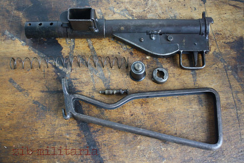 Sten MKII WWII, Frame Stock, free part set, without barrel and bolt