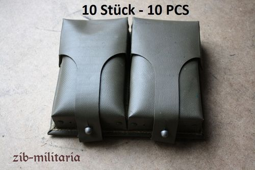 10x G3 H&K Mag Pouches, oliv Canvas, German army