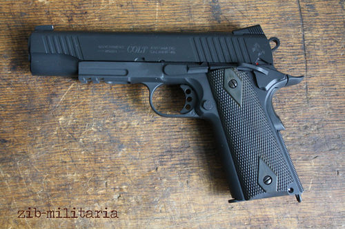 Colt 1911 Rail Gun, Cybergun, 6mm BB, CO2, Black