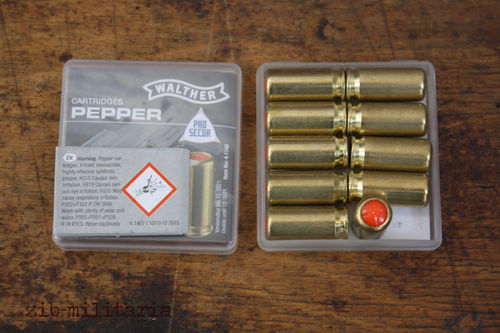 Walther Pepper Cartridges, 9mm P.A.K. Blanks, 10 shots, NO SHIPPING ONLY PICKUP