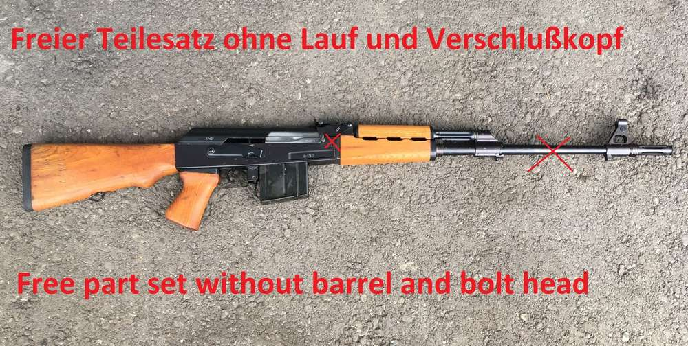 Zastava M76, free part set, without barrel + bolt
