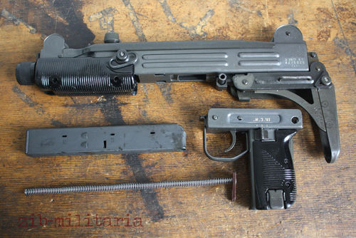 UZI, free part set, folding stock, without barrel + bolt