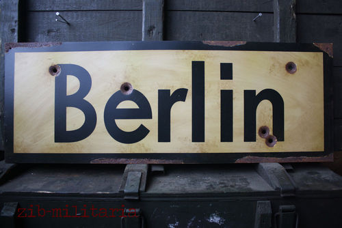 Road Sign Berlin 1945