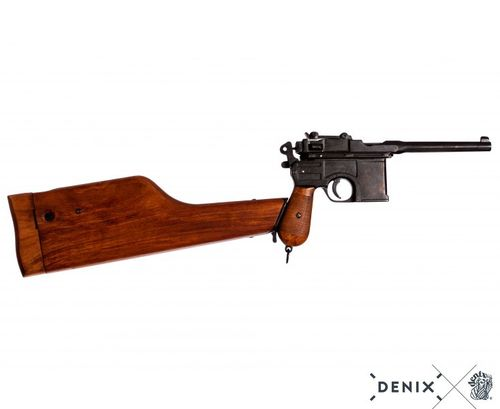 Mauser C96 with wooden stock, pistol model