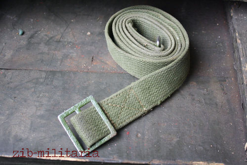 AK47 canvas sling oliv without leather lash/carabiner hook, used, from Balkan lot
