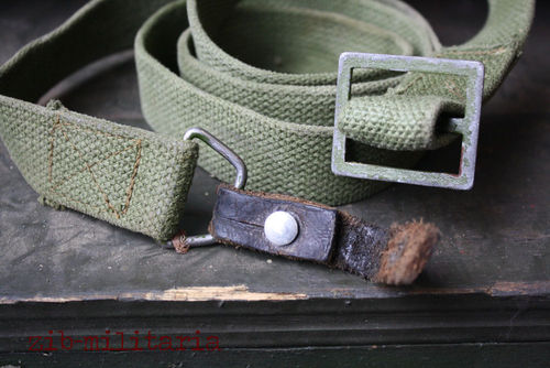 AK47 canvas sling oliv WITH leather lash, used, from Balkan lot