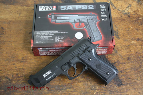 P92 Standard, Blow-Back, Swiss Arms, 4,5mm Stahl BB, CO2