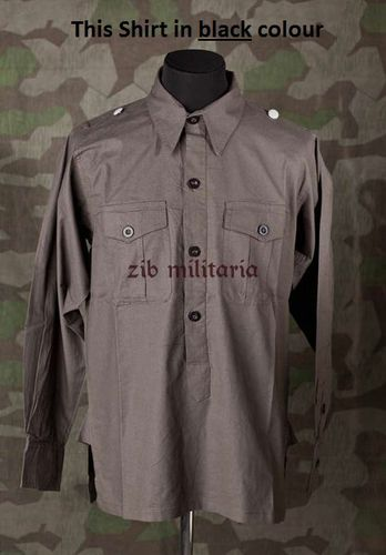 WH Panzer troop field shirt, black, zib-militaria