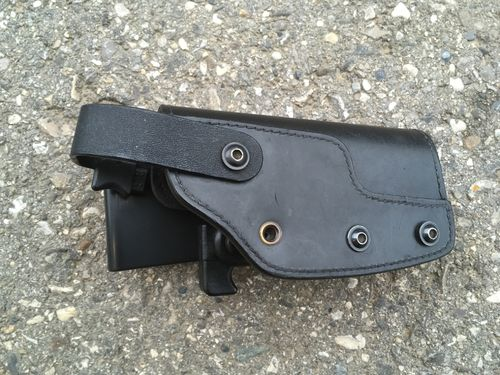 FNP Holster, e.g. FNP-9/FNP-40/FNP-45, leather, Sickinger Dienstholster