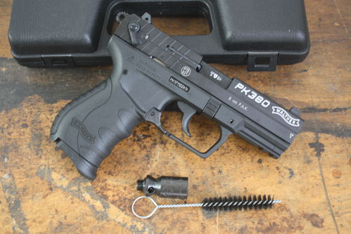 Walther PK380, 9mm P.A., blank firing