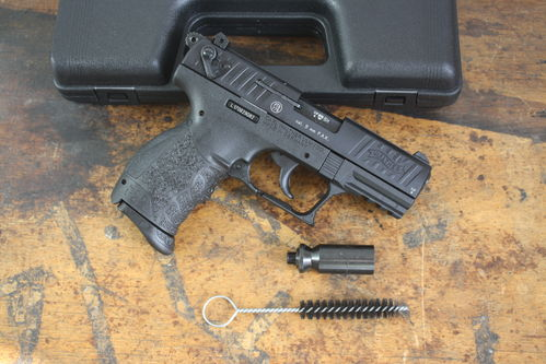 Walther PP22Q, improved P22, 9mm P.A., blank firing