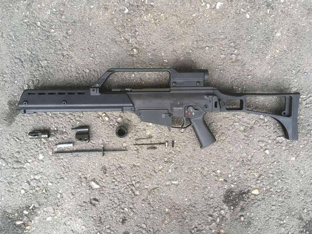 G36 H&K, version V, free part set, without barrel bolt gun parts