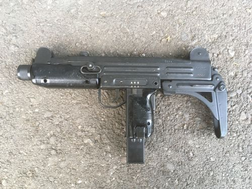 FN UZI with folding stock, ex Austrian Gendarmerie, free part set, without barrel + bolt