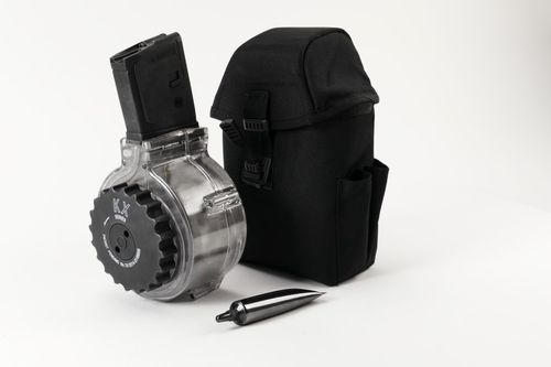 AR15 / M16 / M4 drum mag .223 with pouch and accessoiries, 50rds single drum