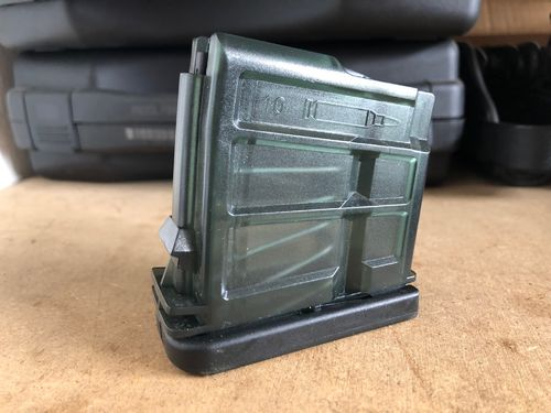 G36 Magazin 10rds (.223 Stanag), PVC Transparent, black bottom, H&K