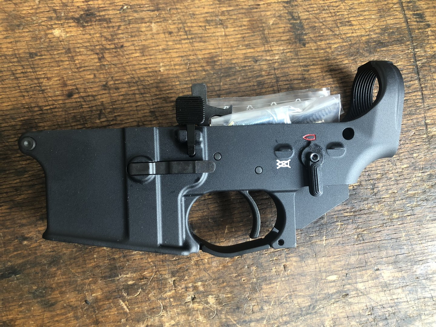 AR-15 lower complete with all parts, semi-auto, Schmeisser Germany made