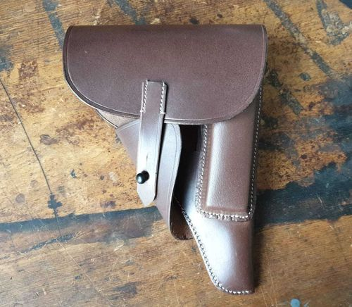 WH holster P38, softshell, brown