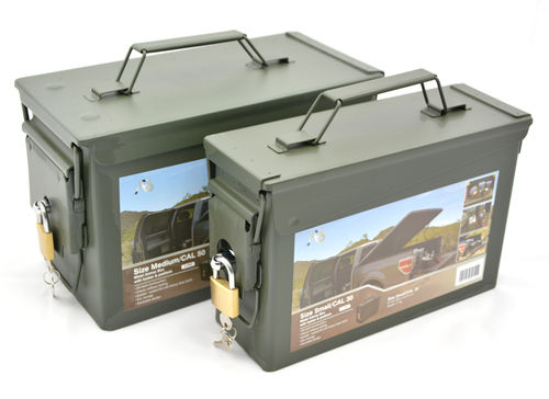 Ammo crate with lock, US Typ, handgun + rifle, set of 2 boxes