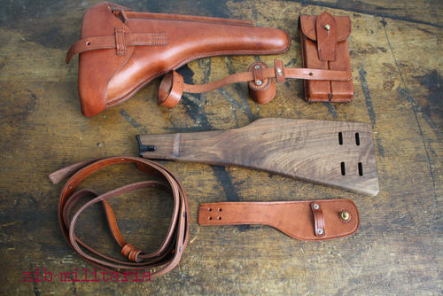 Stock + holster for Luger P08 Ari