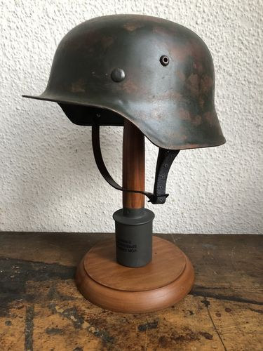M35 steel helmet, Wehrmacht, shell battle aged