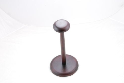 Stand for steel helmet, wood