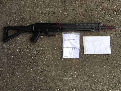 SIG550 Sport, free part set, without barrel and bolt