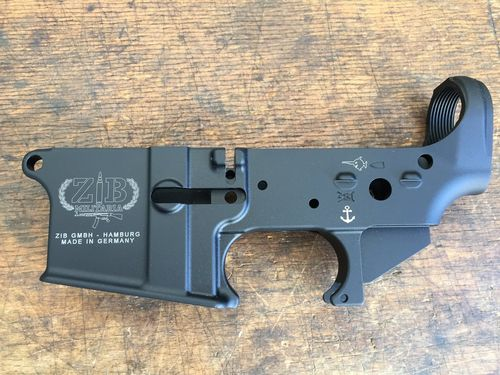 AR-15 lower, empty, semi-auto, ZIB GmbH, made in Germany
