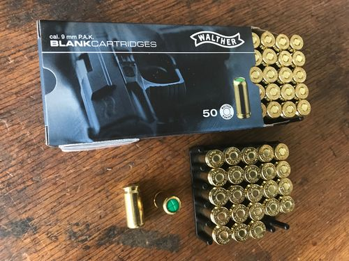 Walther, 9mm P.A.K. blanks, 50shots, special offer, NO SHIPPING ONLY PICKUP