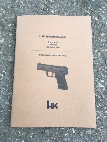 USP repair instructions for armorer, H&K
