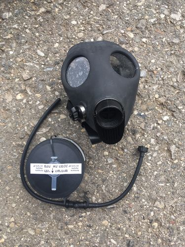 Gas mask with drinking tube, Israeli Army, factory new