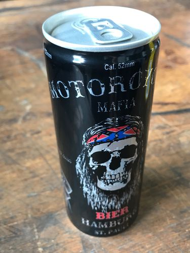 Motorcycle Mafia beer from Hamburg St.Pauli, 0,25 l can